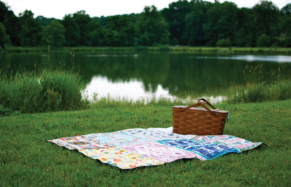 Tea Towel Picnic Blanket